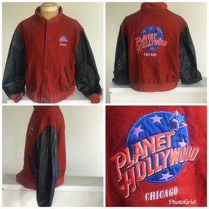 Vtg Men Planet Hollywood Chicago Jacket